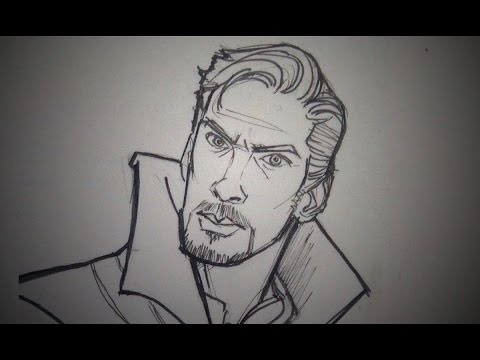 How To Draw Dr Strange Gemma Mcculloch Youtube