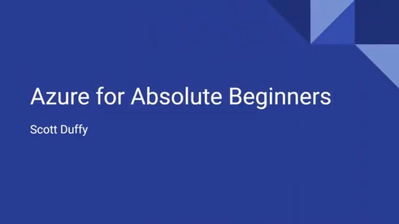 1 Hour Introduction to Azure - For Absolute Beginners