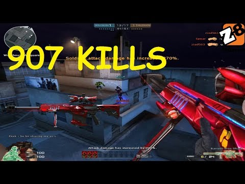 Crossfire 2.0 : Barrett Iron Shark - 907 kills Best Kill - Hero Mode X -  By Clan CherubZombie