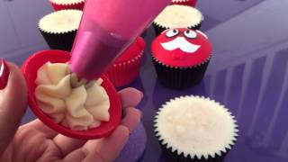 Domed Cupcake Toppers with foam balls for Comic Relief