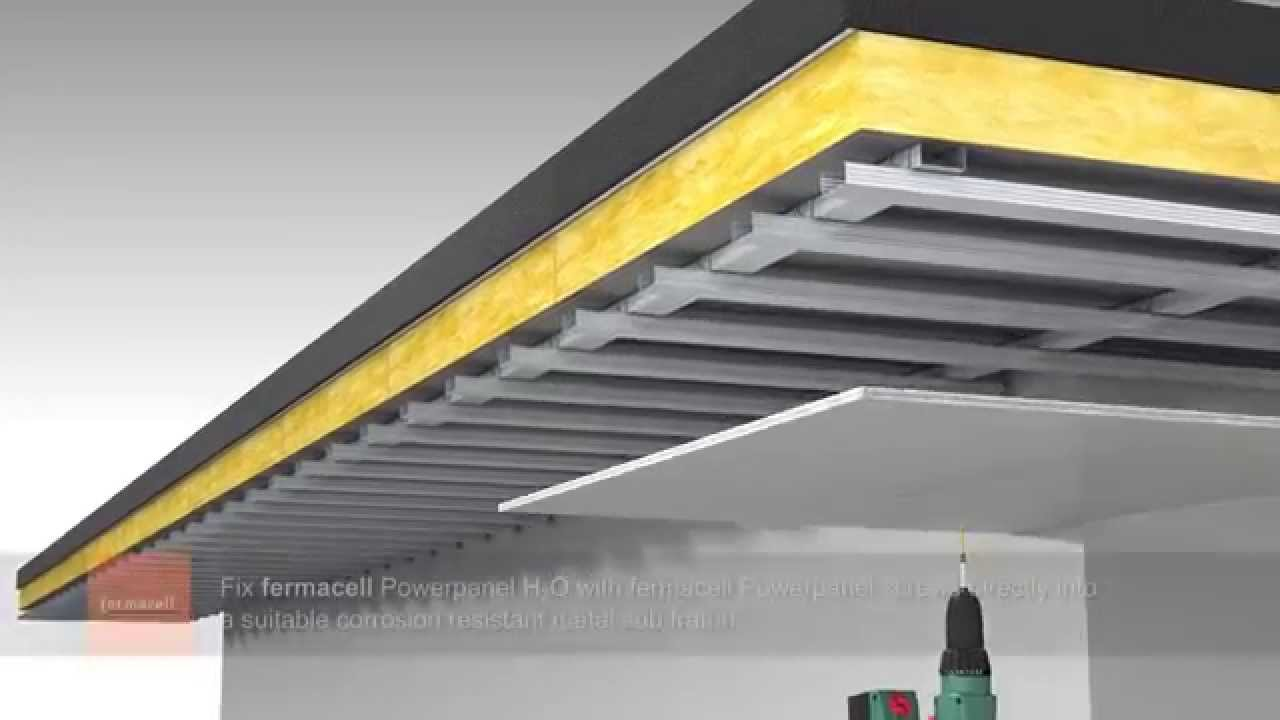 suspended ceilings with fermacell powerpanel h2o youtube. Black Bedroom Furniture Sets. Home Design Ideas
