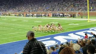 Detroit lions cheerleaders