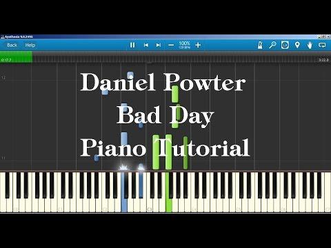 Daniel Powter - Bad Day Piano Tutorial How to play on piano