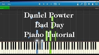 Daniel Powter - Bad Day Piano Tutorial How to play on piano
