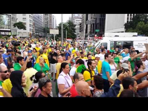 São Paulo protesto contra gov corrupção