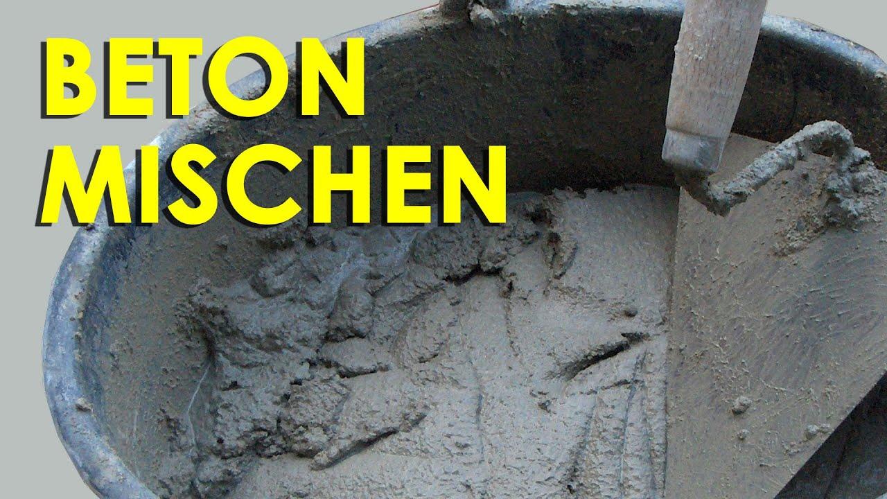 Neu Beton Basteln Mischung Schema