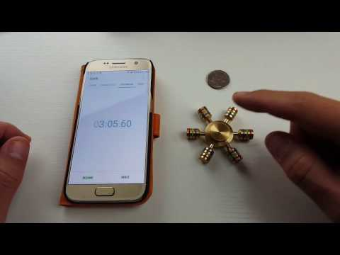 Spin Time for Brass Metal Hand Spinner Test | Heavy 75 Grams!!!