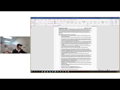 Matching Skills to Job Description (Part 1)