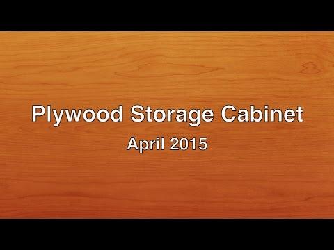 Plywood Storage Cabinet