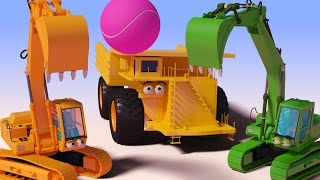 vuclip VIDS for KIDS in 3d (HD) - Excavator, Digger Ball Funny Cartoon for Children - AApV