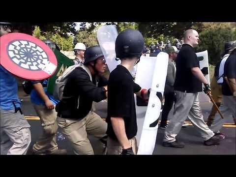 #BLM Vs #AltRight Parking Garage Battle (BRUTAL!) #Charlottesville #UniteTheRight