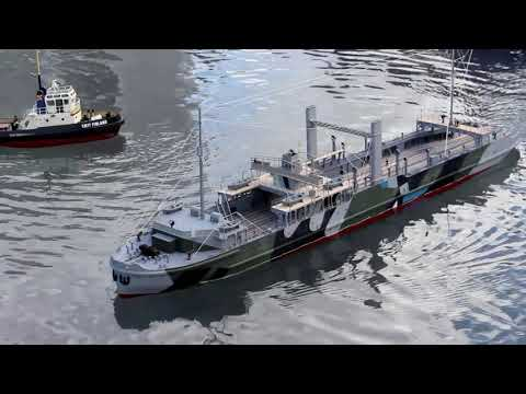 Admiralty Train Ferry 1/72 Scale. - Scratch Built - Deans Marine open day 2017