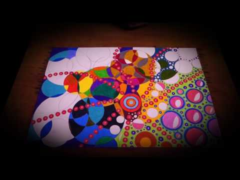 Abstract Circles Art Oil Paint Pen | Abstract Painting Technique