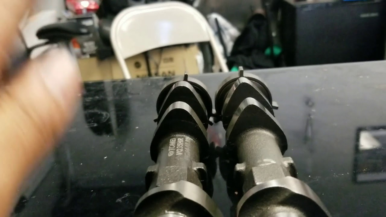 Tomei 264 10 8mm camshaft VS stock cams VQ35hr