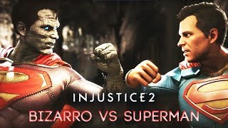 Bizarro vs Superman (INJUSTICE 2) Rival Clashes, Intros, Super Moves