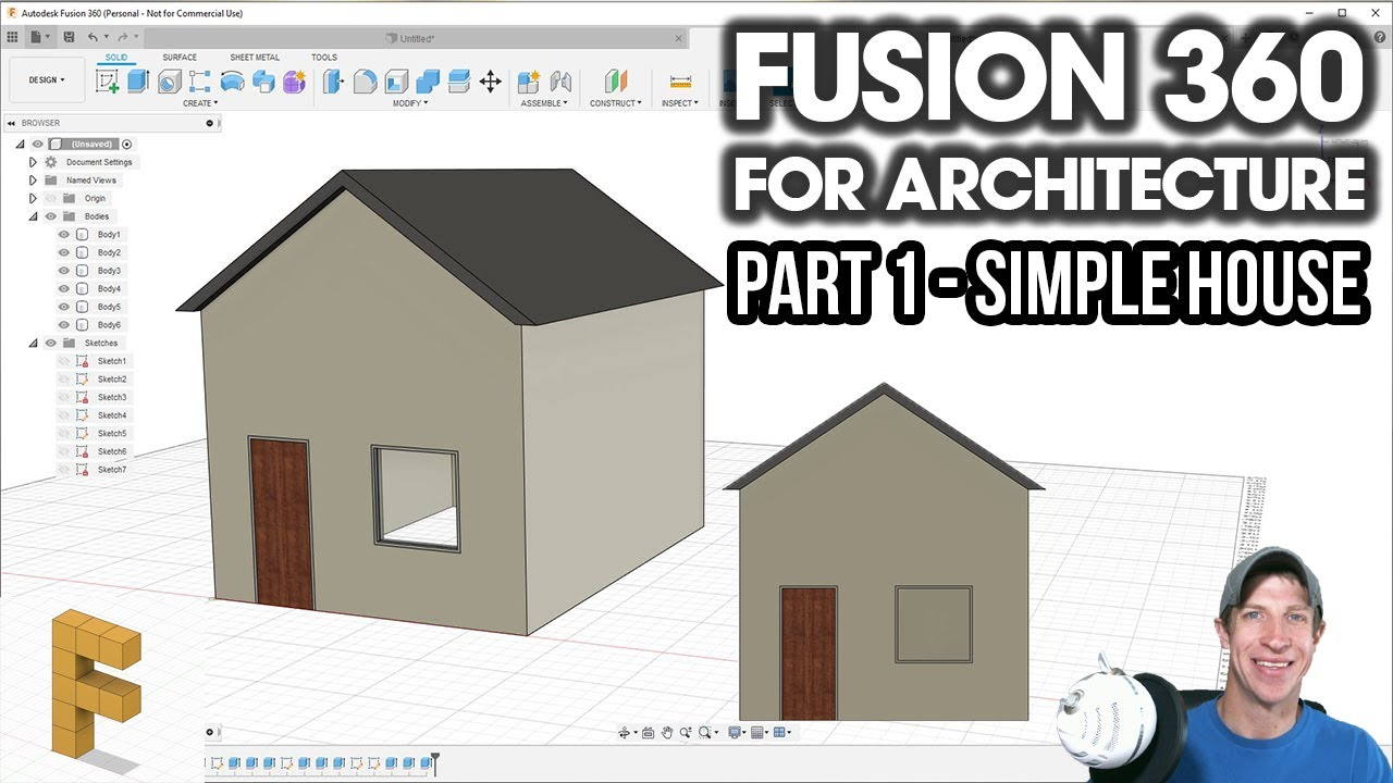 Modeling A House In Fusion 360 Fusion 360 For Architecture Part 1 Youtube