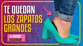 ZAPATOS GRANDES cómo REDUCIR  ✅ SOLUCIÓN  ✅ 4 TRUCOS si me QUEDAN GRANDES los zapatos RÁPIDOS