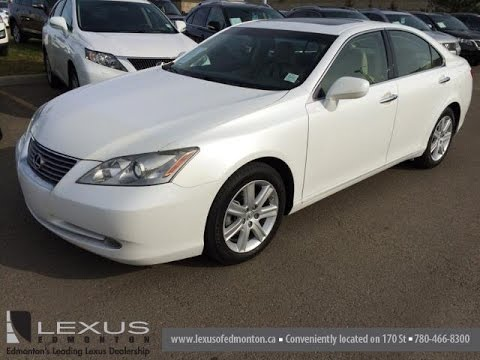 Lexus Pre Owned >> Pre Owned White on Cashmere 2008 Lexus ES 350 4dr Sdn Premium Package Review - Calgary, AB - YouTube