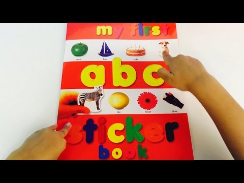 My First Alphabet LEARN abc Sticker Activity Book Recognise Letters Sounds Learning Fun Part 1