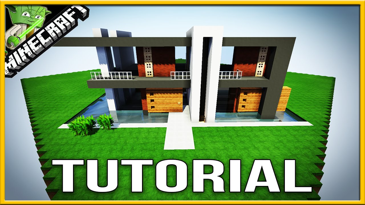 minecraft modern house tutorial block by block best simple modern house 2016