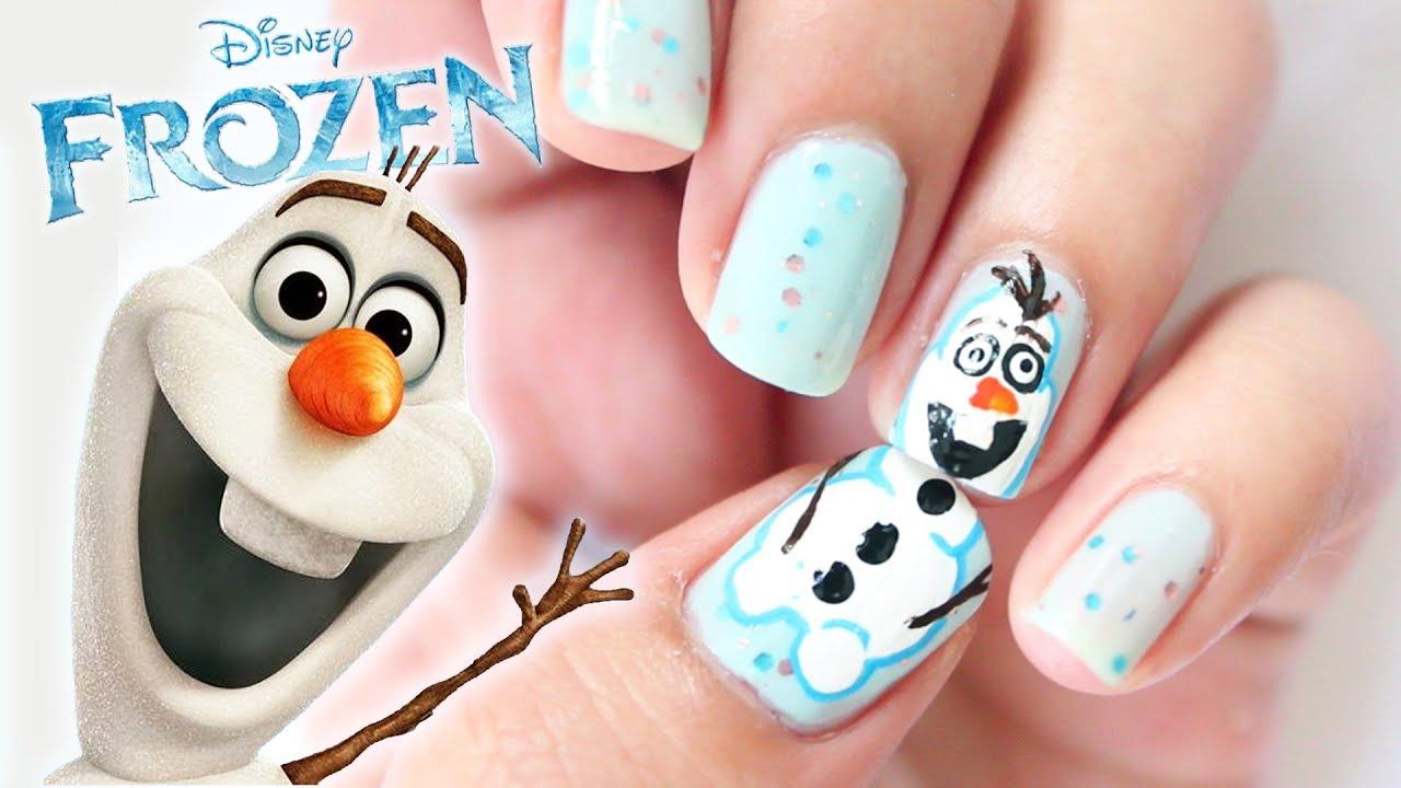disney frozen olaf inspired nails