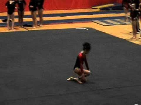 Level 7 Gymnastics Floor Routine 3/13/10 - YouTube