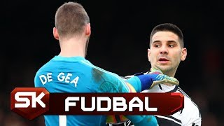 Sukob Mitrovića i De Hee   Fulam - Mančester Junajted   SPORT KLUB Fudbal
