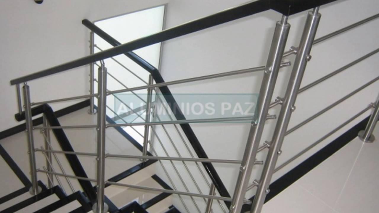 Pasamanos en acero inoxidable con hilos de acero para - Pasamanos de escalera ...