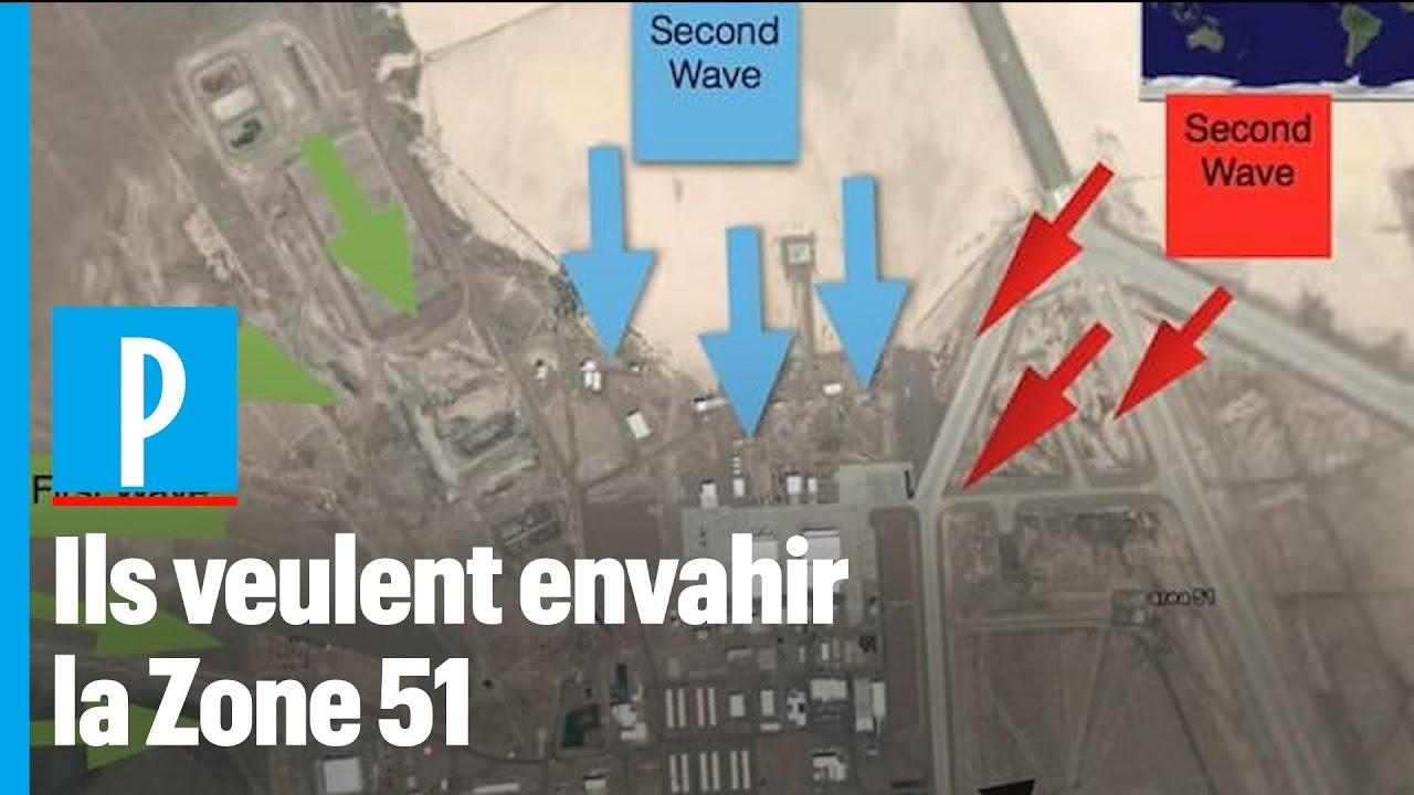 Un million de personnes veulent envahir la Zone 51 - YouTube