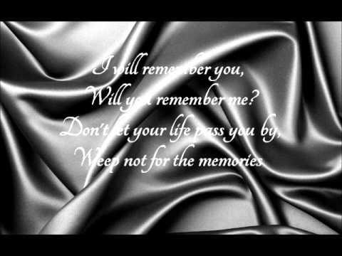 I Will Remember You  Sarah McLachlan (With Lyrics)