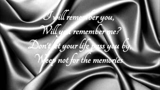 I Will Remember You  Sarah McLachlan (With Lyrics)