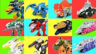 PowerRangers DinoSoul All Mecha Kishryu System Auxillary Transformation