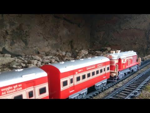 Indian Model Train Set in Largest Cave Flyover Bridge for Public