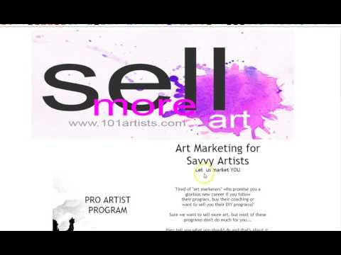 Sell More Art - Art Marketing 101 Programs for Artist Publicity, PR, Exposure Sales Online