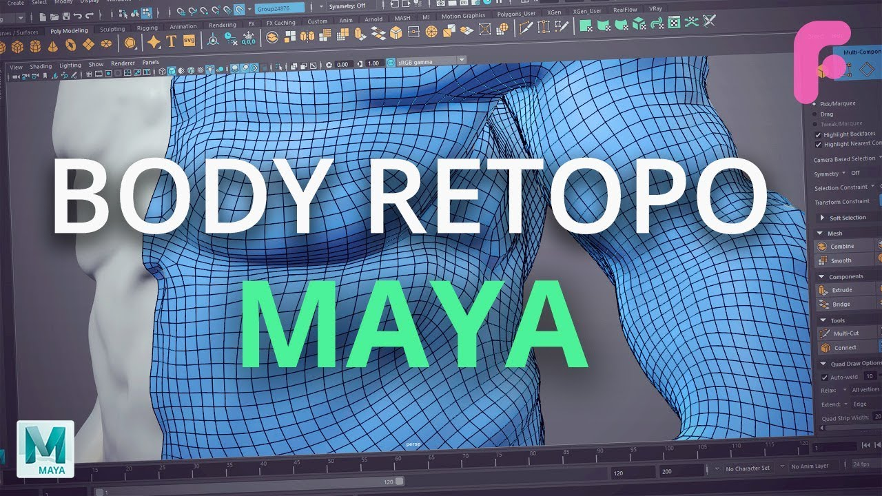 How to Retopologize the Body in Maya