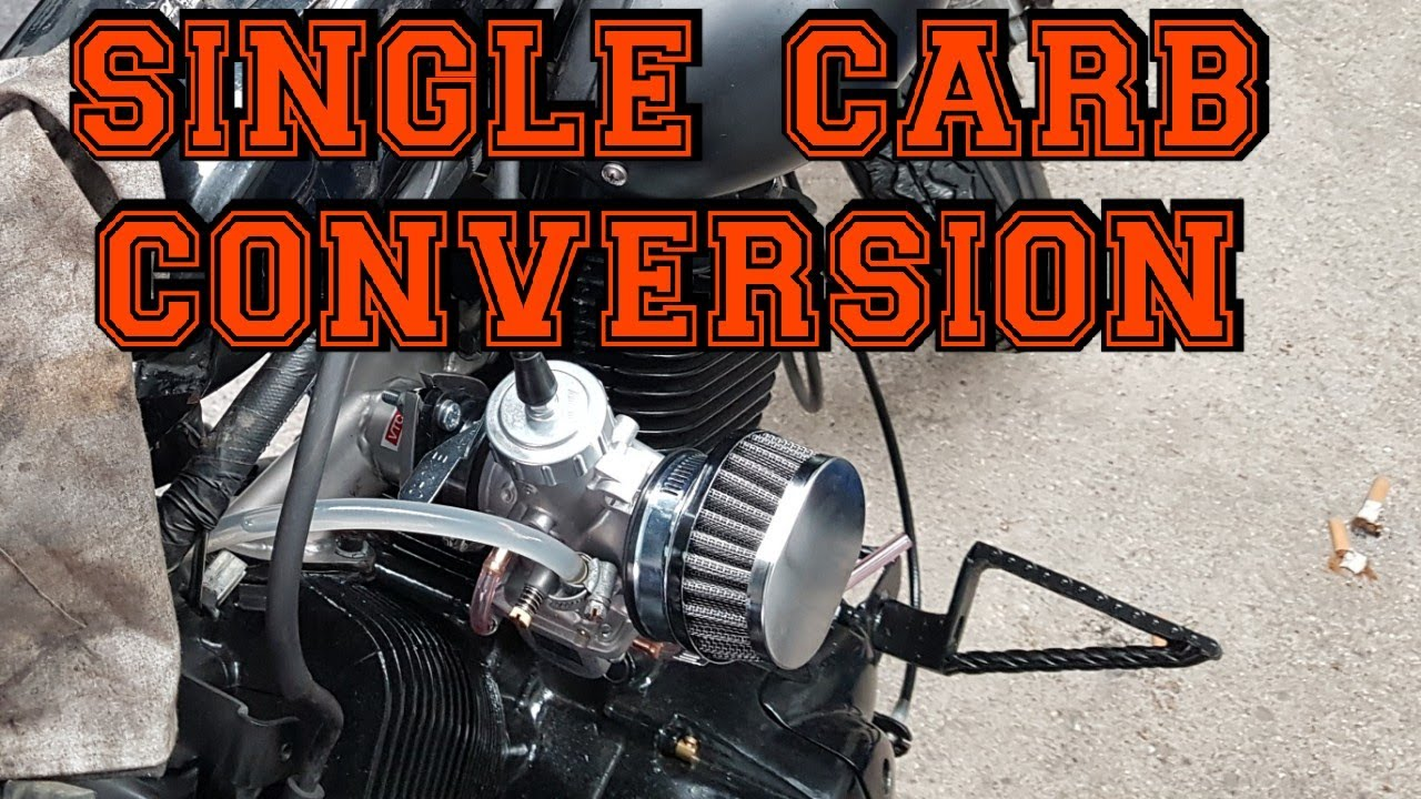 Virago 535 single carb conversion