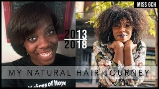 My 5 Year Natural Hair Journey   2013-2018