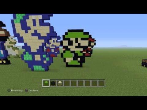 Minecraft How To Build Luigi Super Mario Bros 3 Cannot Find