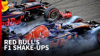 Every Red Bull mid-season F1 driver change