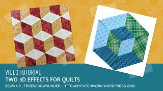 Video tutorial: two 3D effects for your quilt