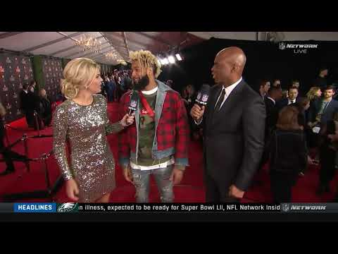 NFL Honors Award red carpet: Odell  Comments on outfit, ankle, Pat Shurmur, Eli Manning & More..
