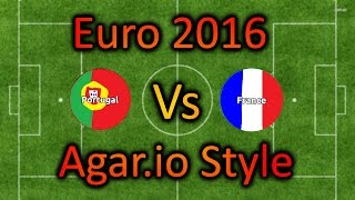 portugal vs france euro 2016 agar io style
