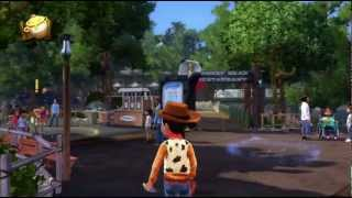 Disneyland Adventures Splash Mountain, Winnie the Pooh, shopping Xbox 360 Kinect gameplay