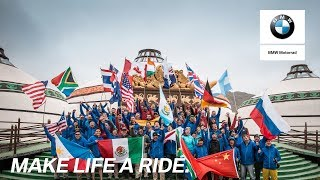 The Int. GS Trophy 2018 riders see their bikes for the first time.