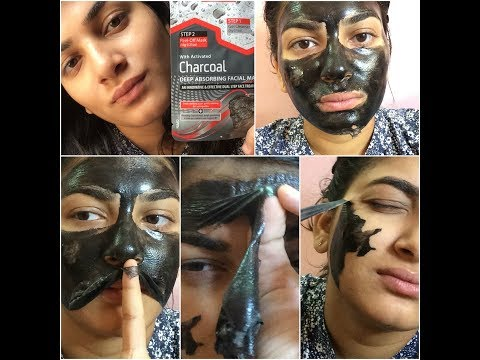 REVIEW : ACTIVATED CHARCOAL DEEP ABSORBING FACIAL PEEL OFF MASK BEAUTY FORMULA'S UK
