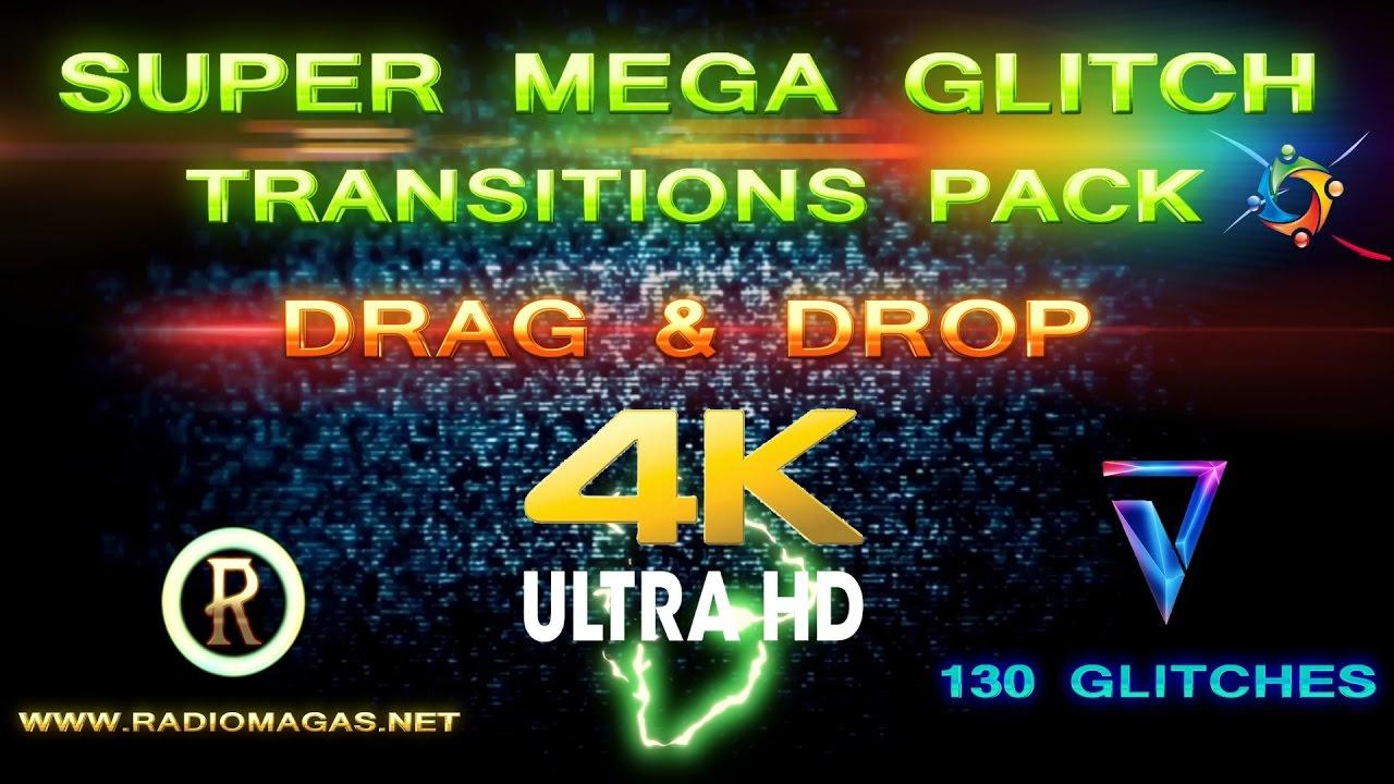 Super Mega Glitch Transitions Pack 4k UHD (Radio Magas) 2017