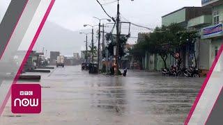 Bão số 6 đổ bộ, Bình Định mưa như trút nước