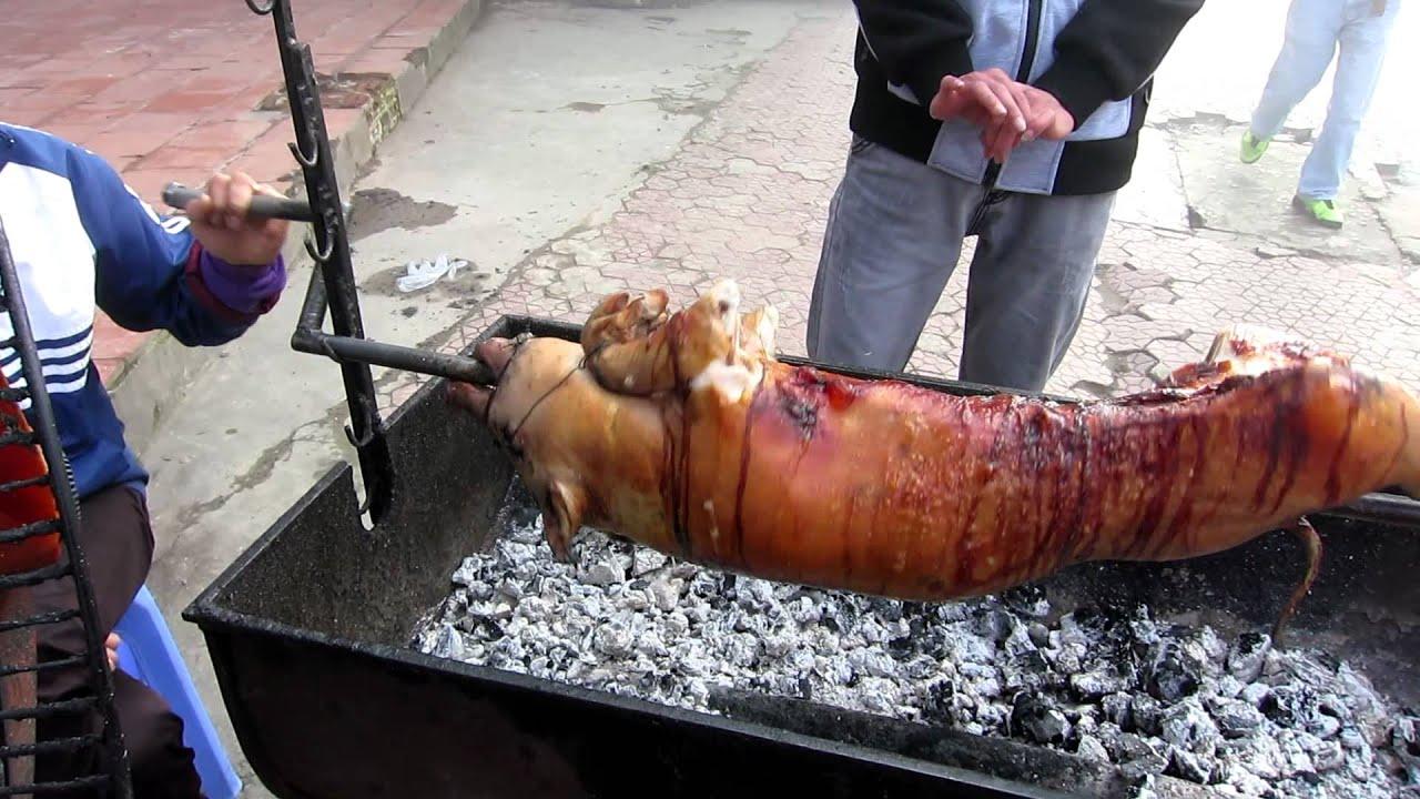 roasting a pig in sapa vietnam youtube