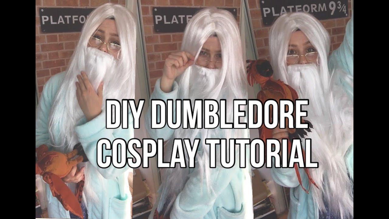 DIY DUMBLEDORE COSPLAY TUTORIAL - YouTube