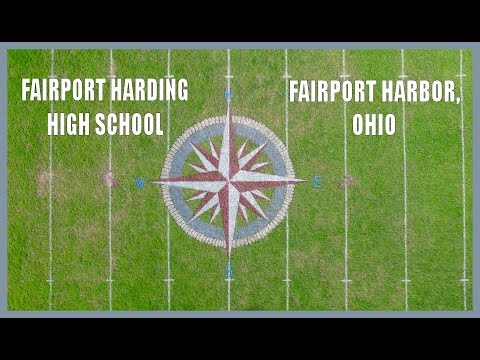 Fairport Harding High School - Football field emblem painting - Scott Hribar